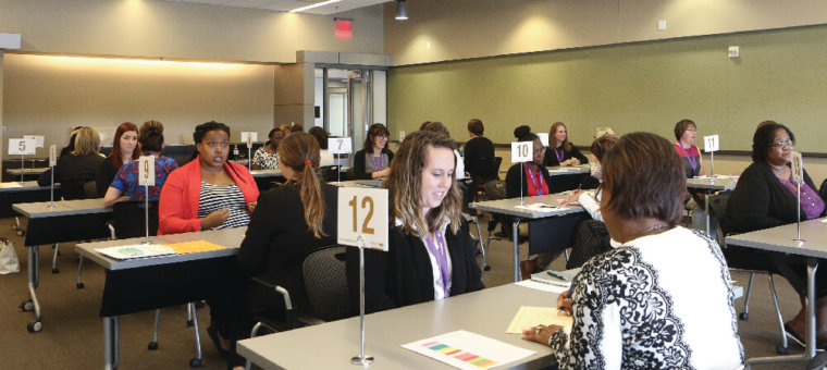 National cohort Fellows participate in speed interviewing
