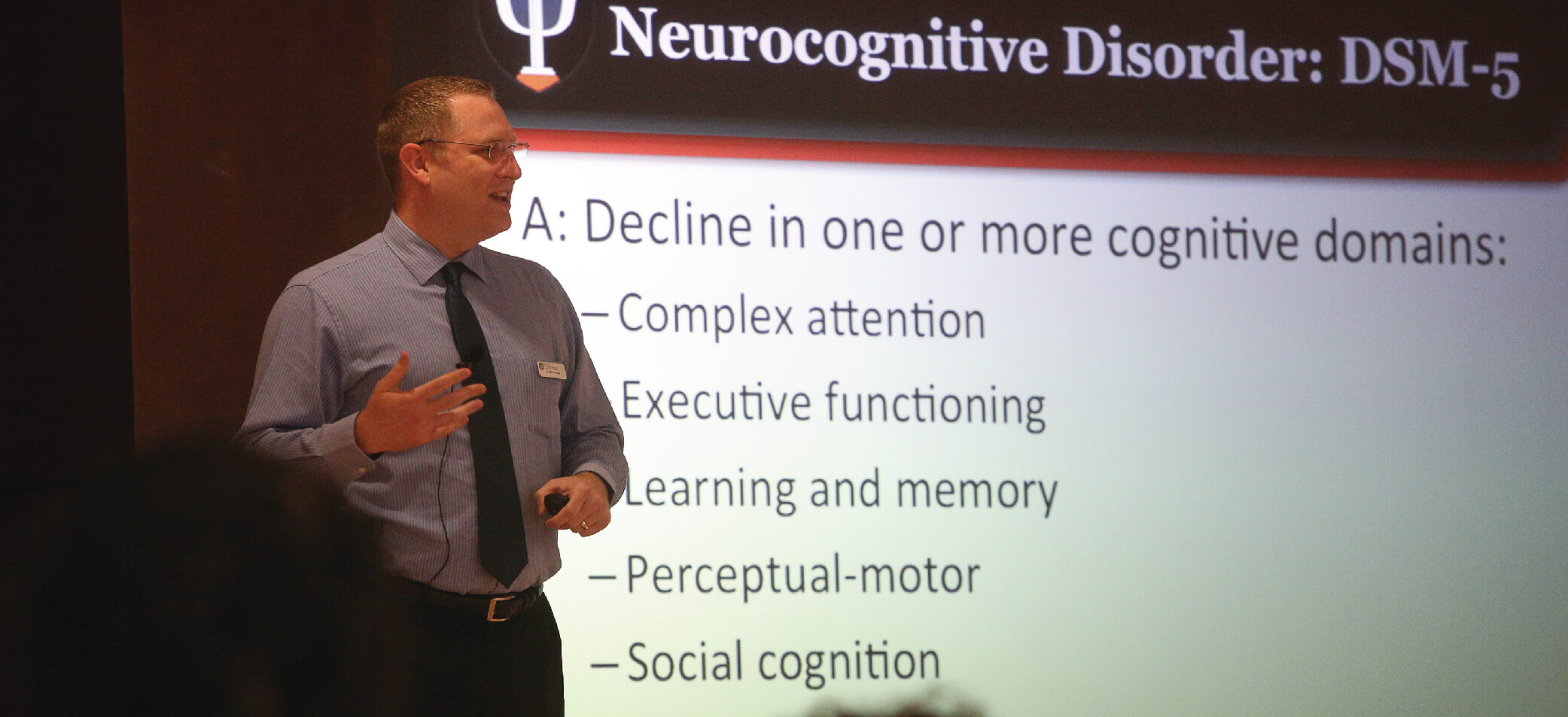Speaker presents at an SBHP Tier Three training on neurological disorders