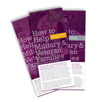 How to Help Military and Veteran Families pamphlets