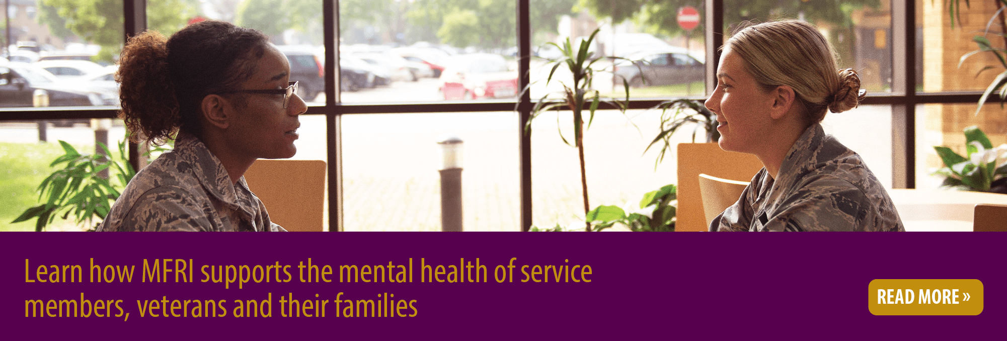 Learn how MFRI supports the mental health of service members, veterans and their families Read more
