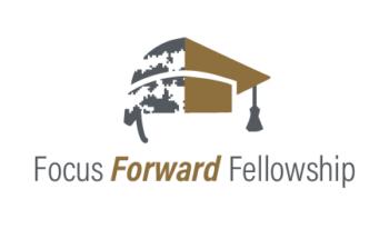 Image: Half military helmet, half graduation cap Text: Focus Forward Fellowship